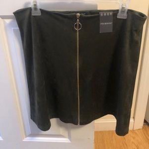 Brand new velvet skirt
